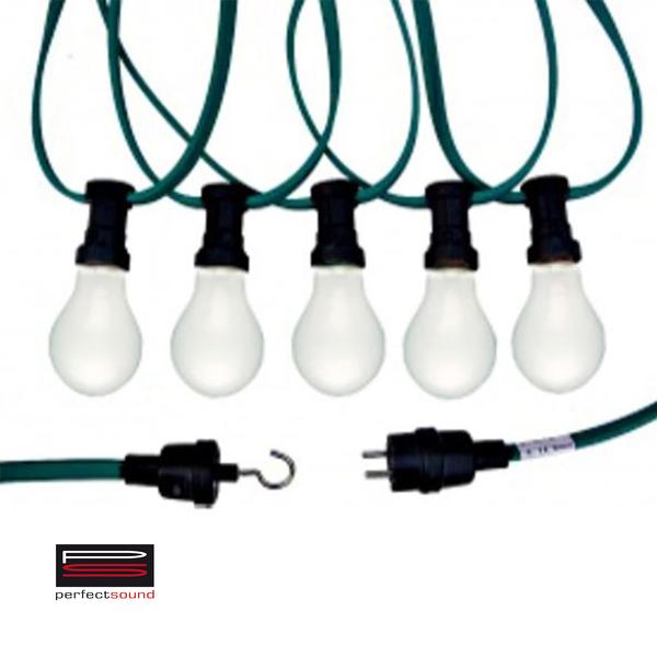 Partylichterkette - Lichterkette mieten. Es handelt sich hier um ein Beispielbild