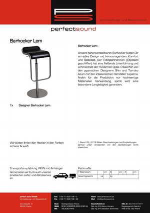 Barhocker mieten bei ps-partyplan.de aus Rheine
