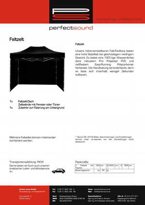 Faltzelt mieten, Pavillon Verleih, Ausleihe, ps-partyplan.de, rheine vermietung Partyequipment DJ-Equipment