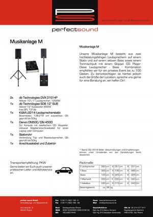 Musikanlage M von ps-partyplan.de aus Rheine