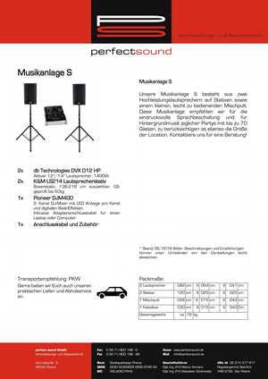 Musikanlage S mieten / leihen bei ps-partyplan.de aus Rheine