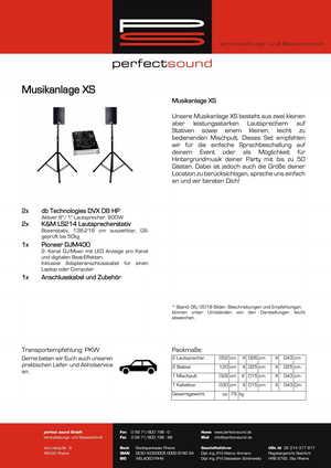 Musikanlage XS von ps-partyplan.de aus Rheine